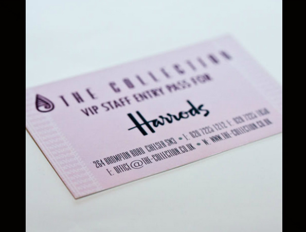 The Collection Harrods cards website photo
